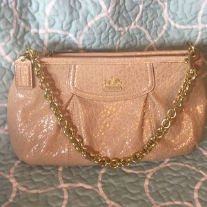 LIKE NEW Champagne & Gold COACH Shoulder Bag